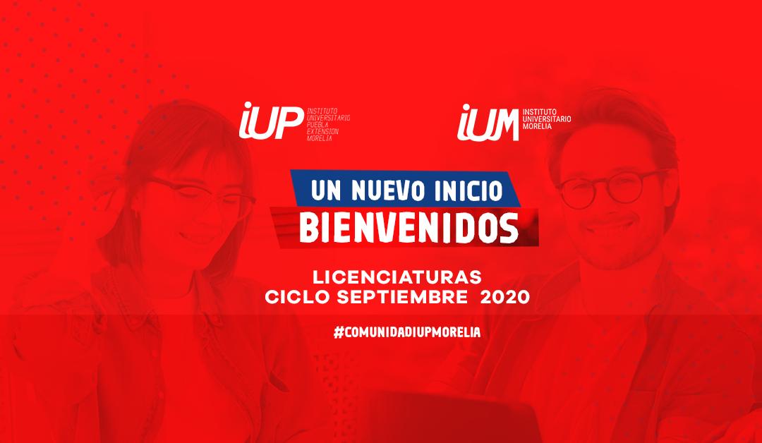 Bienvenida Ciclo Septiembre 2020 #ComunidadIUPMorelia